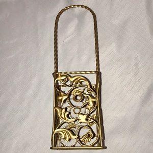 Other - NWOT / Gold Metal Bottle Carrier